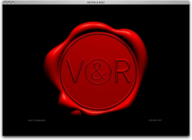 viktor & rolf website by mannschaft