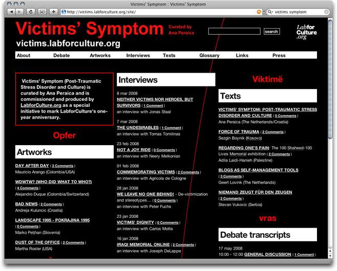 victim's symptom