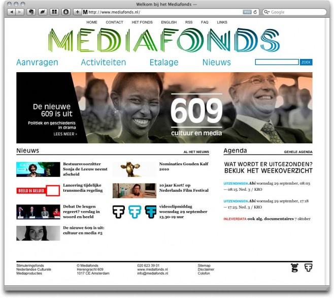 Mediafonds v2 Homepage