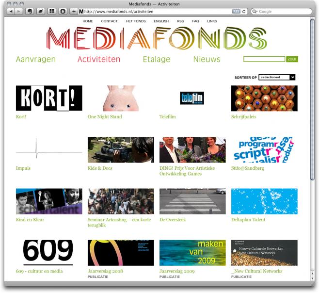 Mediafonds v2 - Activiteiten