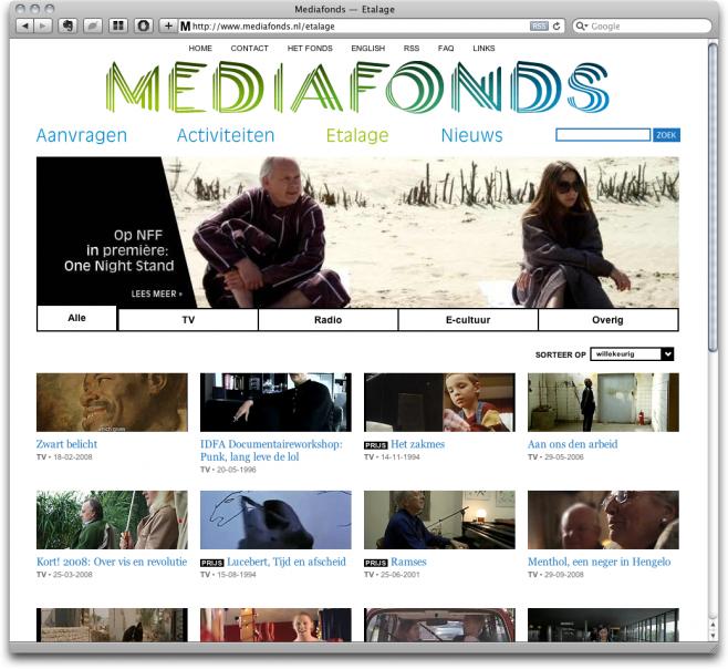 Mediafonds v2 - Etalage