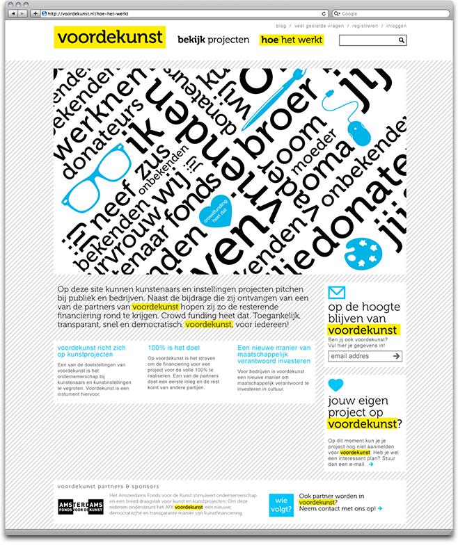 voordekunst.nl - how it works page screenshot