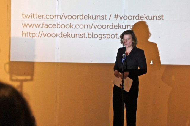 Carolien Gehrels launching the site