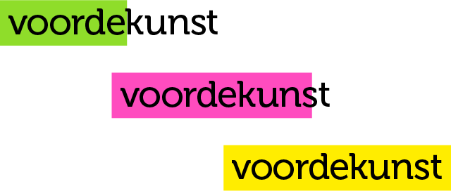 voordekunst - three logos