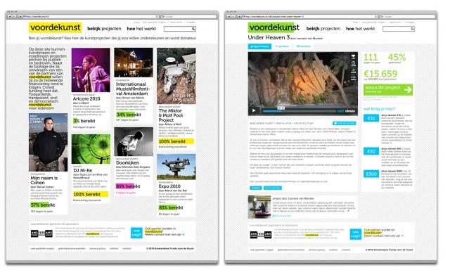 voordekunst homepage and projectpage